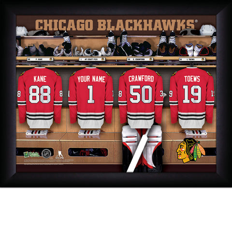 Personalized NHL Chicago Blackhawks Locker Room Sign