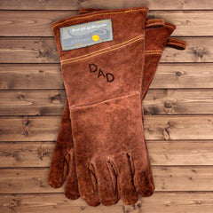 Personalized Branded Leather BBQ Grilling Gloves