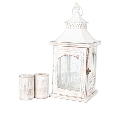 Personalized Rustic Heart Unity Lantern with Candle Holders