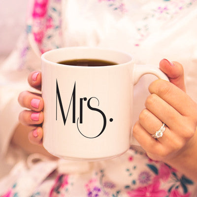 Mrs. & Mrs. Gatsby 20 oz. Large Coffee Mugs (Set of 2)