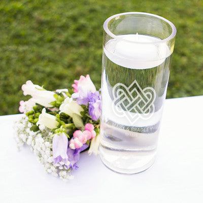 Personalized Celtic Knot Floating Unity Candle
