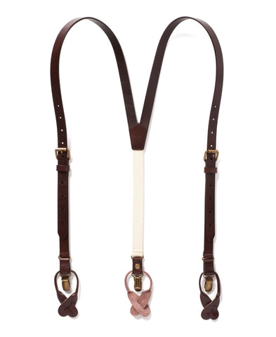 Chestnut Java - Brown Leather Suspenders