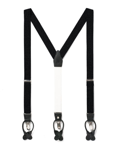 Storm Cloud - Classic Black Suspenders