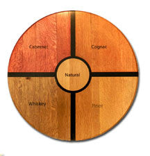 Personalized Oak Barrel Lazy Susan - Family Estates