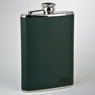 The Huntsman Engraved Leather Flask