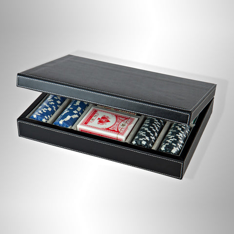 Premiere Leather Professional Poker Set