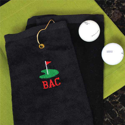 Personalized Golf Towel w/ Golf Design
