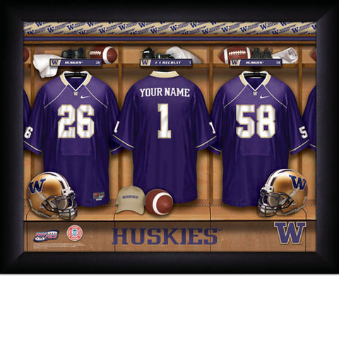 Personalized College Football Locker Room Signs - Washington Huskies