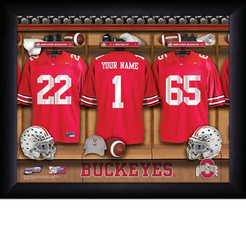 Personalized College Football Locker Room Sign - Ohio State Buckeyes