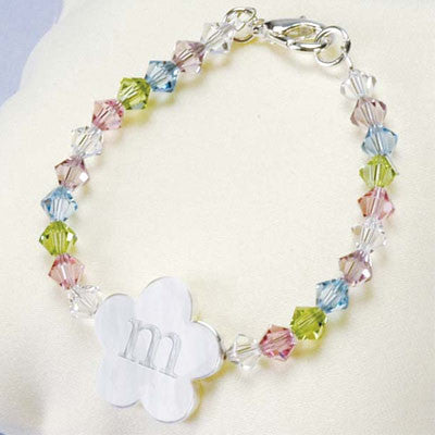 Personalized Flower Girl Bracelet