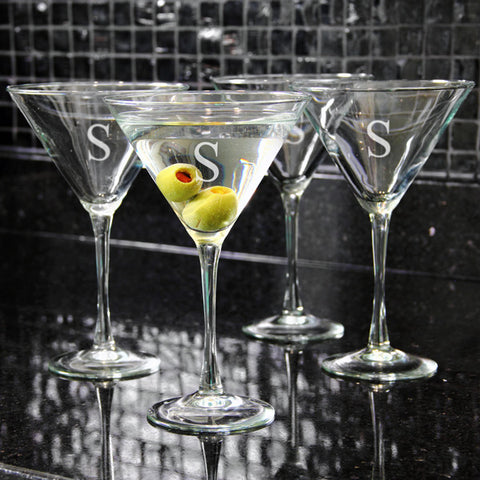Personalized Martini Glasses (Set of 4)