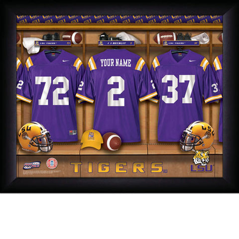Personalized College Football Locker Room Sign - LSU Tigers