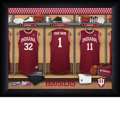 Personalized College Basketball Locker Room Sign - Indiana Hoosiers