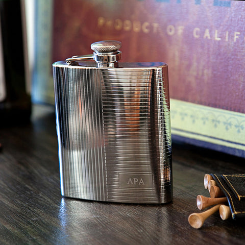 The Deco Engraved Flask
