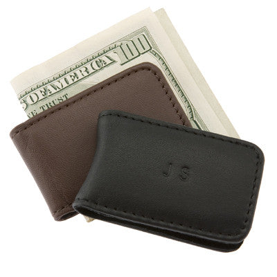 Personalized Leather Magnetic Money Clip
