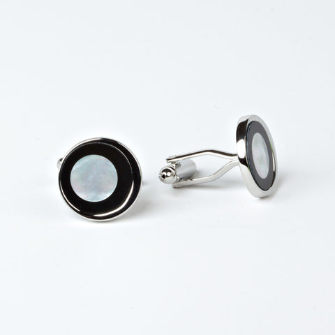The Inner Circle Cufflinks with Engraved Box for Groomsmen