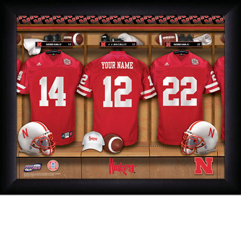 Personalized College Football Locker Room Sign - Nebraska Huskers