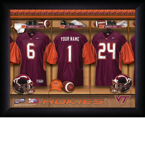 Personalized College Football Locker Room Sign - Virginia Tech