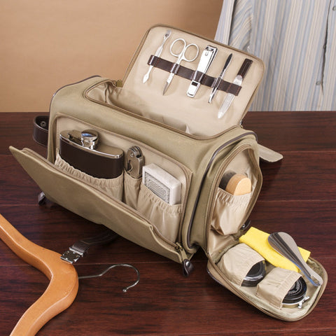 The Ultimate Toiletry, Game and Bar Bag - Khaki