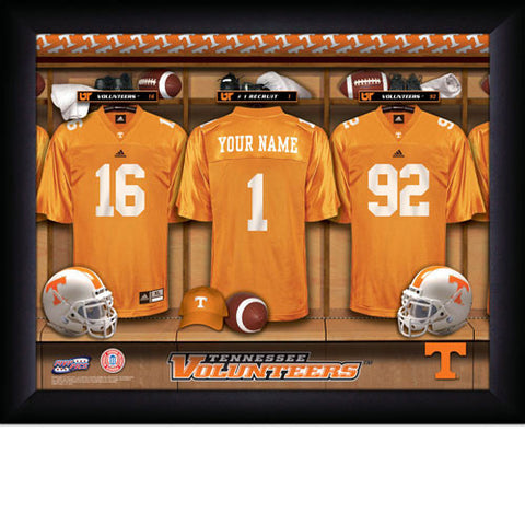 Personalized College Football Locker Room Sign - Tennessee Vols