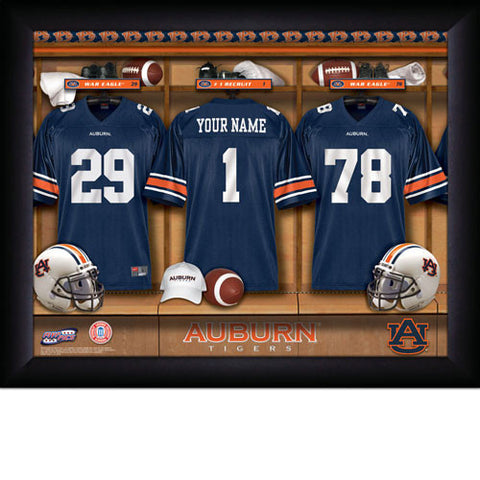 Personalized College Football Locker Room Signs - Auburn Tigers