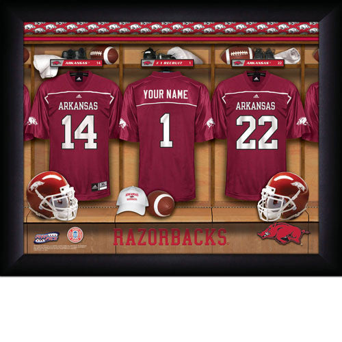 24a6a14c7fc Personalized College Football Locker Room Signs - Arkansas Razorbacks