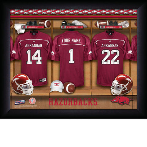 Personalized College Football Locker Room Signs - Arkansas Razorbacks