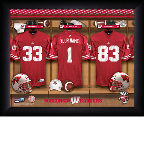 Personalized College Football Locker Room Signs - Wisconsin Badgers