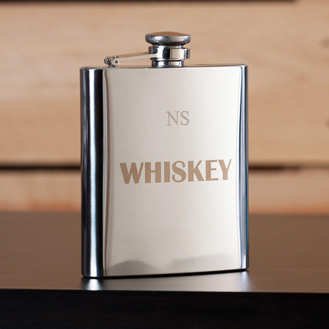 Whiskey Engraved Flask