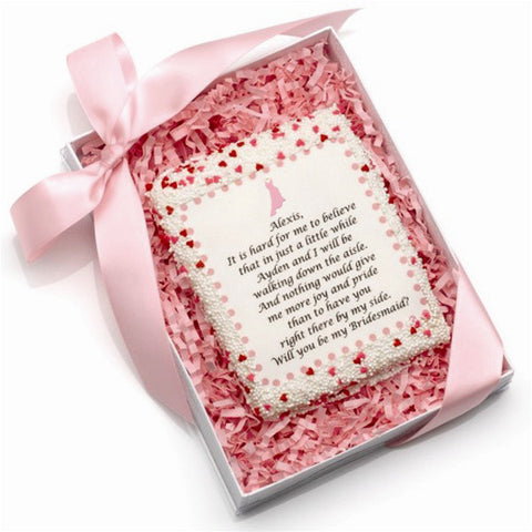 Edible Will You Be My Bridesmaid Cookie Cards  - Personalized