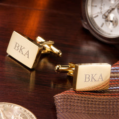 Gold Plated Rectangle Cufflinks