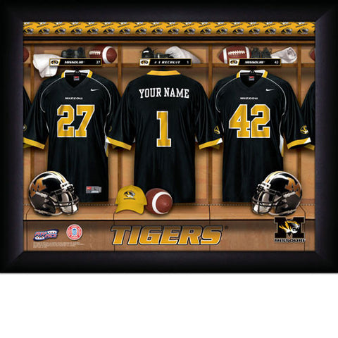 Personalized College Football Locker Room Signs - Missouri Tigers