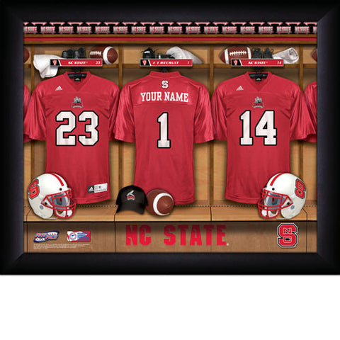 Personalized College Football Locker Room Sign - North Carolina State