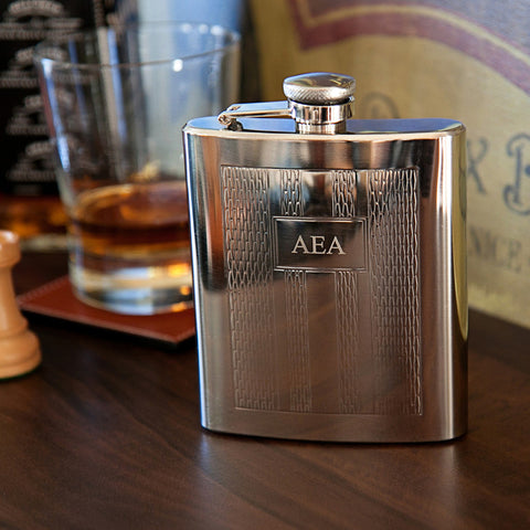 The Hyde Engraved Flask