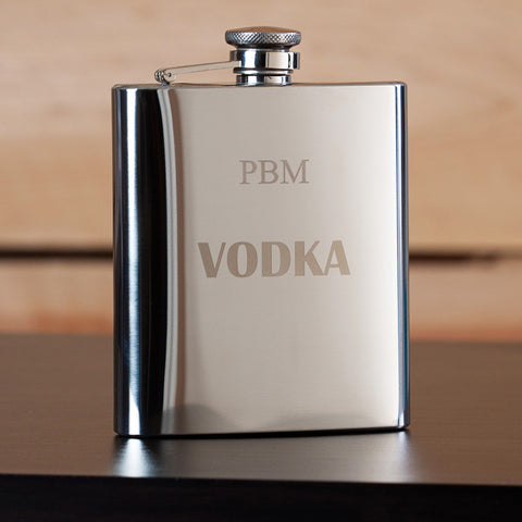 Vodka Engraved Flask  for Groomsmen