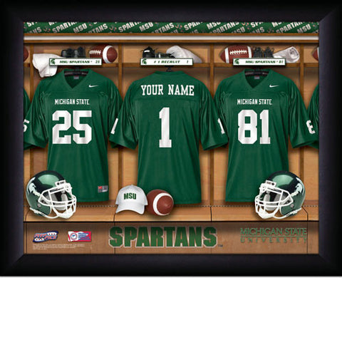 Personalized College Football Locker Room Sign - Michigan State Spartans