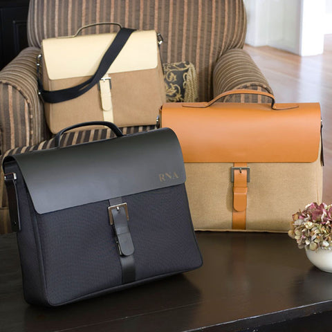 """City Style"" Leather Briefcase - Personalized"