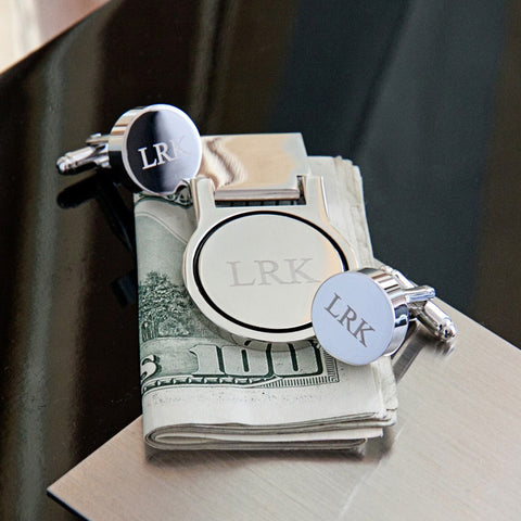 The Mogul Cufflink and Money Clip Set