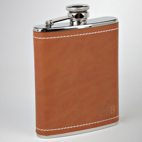 The Carmel Valley Leather Flask