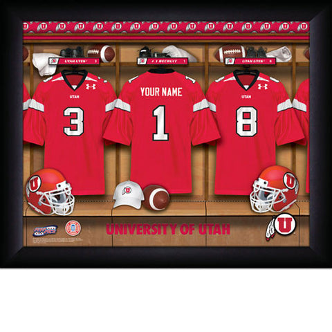 Personalized College Football Locker Room Signs - Utah Utes