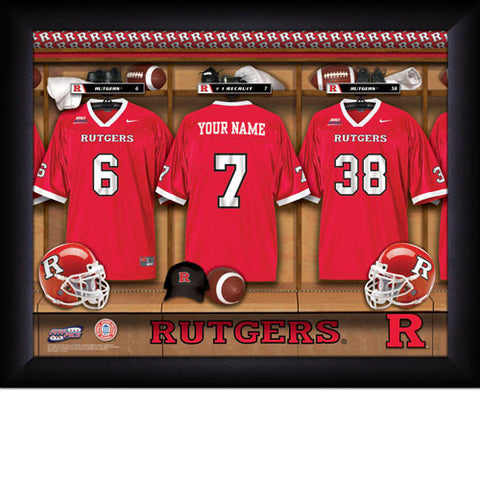 Personalized College Football Locker Room Signs - Rutgers Scarlet Knights