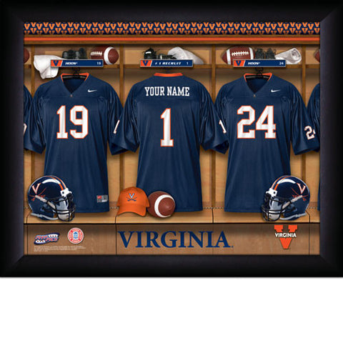 Personalized College Football Locker Room Sign - Virginia Cavaliers