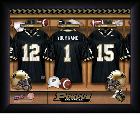 Personalized College Football Locker Room Sign - Purdue Boilermakers