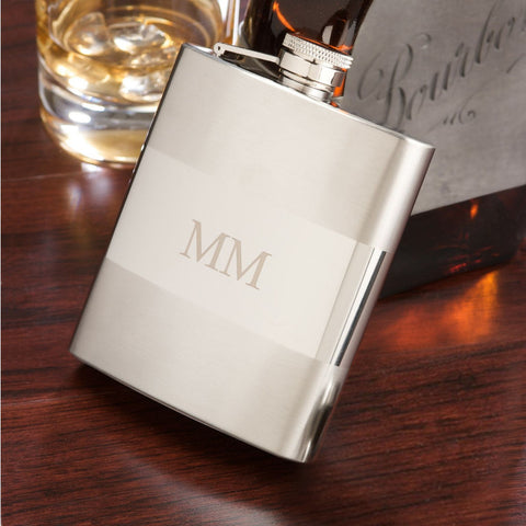 Personalized Satinized Mirrored Flask