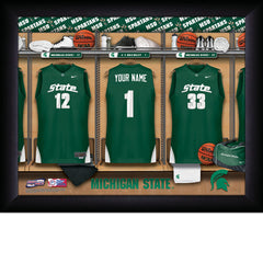 Personalized College Basketball Locker Room Sign - Michigan State Spartans