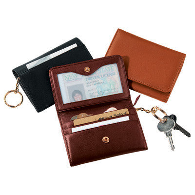 Personalized Nappa  Leather Wallet with Removable Key Ring