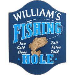 Handcrafted Fishing Hole Sign