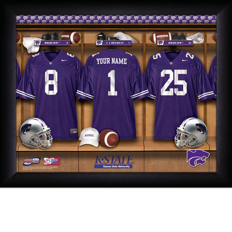 Personalized College Football Locker Room Signs - Kansas State Wildcats