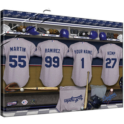 Personalized Canvas MLB Locker Room Print - National League Teams