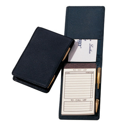 Personalized Nappa Leather Deluxe Flip Style Note Jotter